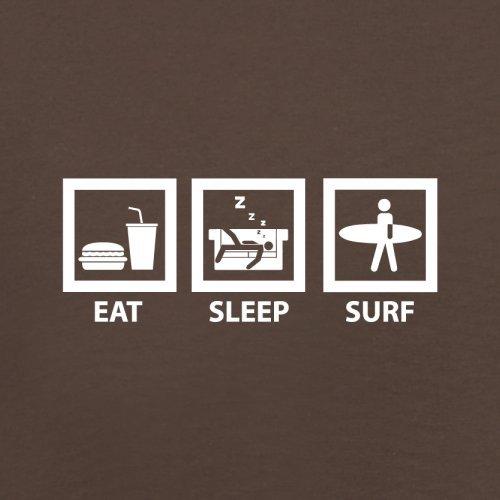 Eat Sleep Surf - Herren T-Shirt - 13 Farben Schokobraun