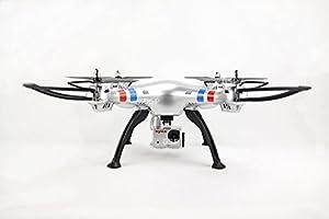 NCC® Syma x8g Headless Mode 2.4G 4CH 6Axis UFO Quadcopter with 8MP HD Camera/4GB SD CARD Silver New. by NCC® SYMA
