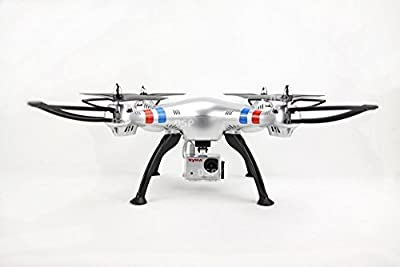 NCC® Syma x8g Headless Mode 2.4G 4CH 6 Axis UFO Quadcopter with 8MP HD Camera/4GB SD CARD Silver New. from NCC® SYMA