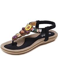 Aa-nvliangxie Mode Schuhe 2018 Neue Sommer Hausschuhe, Sommer, flache Unterseite Flip Flops, Braun, Eu 38 Cn 39