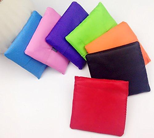 RayLineDo® Packung mit 7 Strawberry Reusable faltbare Einkaufstasche Grocery Einkaufstragetaschen Bequeme Einkaufstüten und Handlich, Einkaufen Reisetaschen