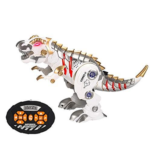 ng Kinder Ferngesteuertes Dinosaurier Spielzeug, Tier Spielzeug mit Gehen, simuliertem Brüllen, Sprühen, Jungs Mädchen Kinder (Weiß) ()