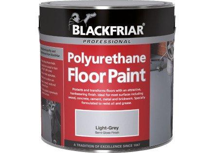 Blackfriar-Vernice per pavimento in poliuretano, per interni ed esterni, 5 l, colore: grigio medio