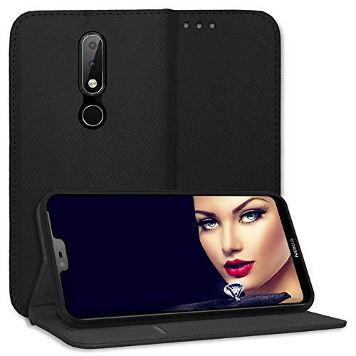 mtb more energy® Schutz-Tasche Bookstyle für Nokia 6.1 Plus (5.8'') | schwarz | Kunstleder | Klapp-Cover Hülle Case