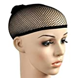 Bacabella 10029 Haarnetz schwarz elastisch aus Nylon (1 Stück) als Perückennetz oder Schutzkappe für nachts zum Schlafen (Schlafkappe)