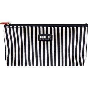 Absolue New York acb13 Trousse – Black et White Stripes Satin, pack de 1 (1 x 1 pièce)