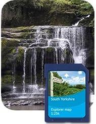 Satmap 10 - Tarjeta con mapas de Gran Bretaña para GPS (1:25.000) Yorkshire Süden Talla:1:25000