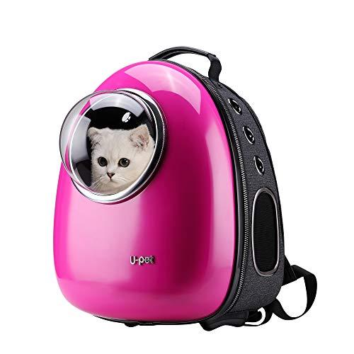 U-pet Bubble Design Katze Dog Puppy Pet Travel Rucksack Hundetasche, Rose -
