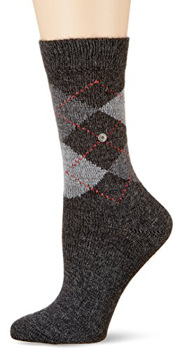 Burlington Damen Socken Whitby, 5 DEN, Grau (Anthra. moul. 3087), 36/41 (Herstellergröße: 36-41)