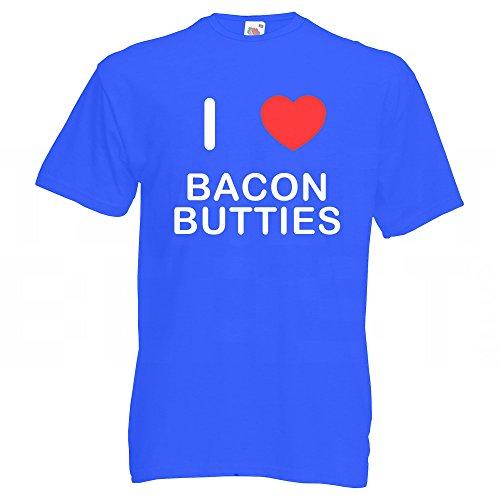 I Love Bacon Butties - T-Shirt Blau