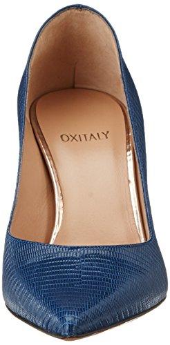 Oxitaly - Stefy 100, Scarpe col tacco Donna Blu (Denim)