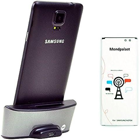 Mondpalast @ Cargador Dual Base Dock docking station + 1X 3220 mah batería Para Samsung Galaxy note 4 , Note 4 , NOTE