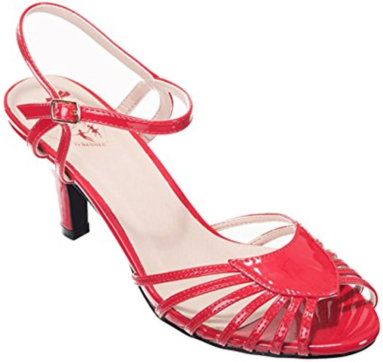 Banned - Zapatos de vestir de Material Sintético para mujer rojo rojo