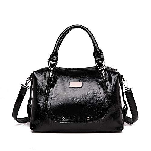 Borsa donna in PU - ingrosso 2019 estate nuova borsa in pelle olio borsa PU borsa europea e americana moda borsa a tracolla borsa a tracolla Messenger -P 黑