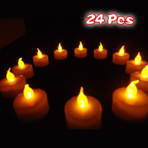 Sonline 24 Luz Vela Parpadeada Candela de Simulacion Sin Llama No Humo