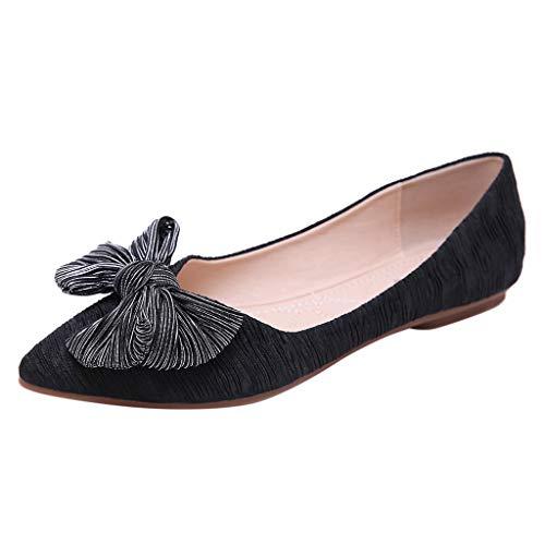 Makefortune 2019 Damen Sandalen, Frauen Spitzen flachen Mund Schuhe Bogen einzelne Schuhe Wild Damen Sandalen Freizeitschuhe High Heel Pumps Absatzschuhe Stöckelschuhe Brautschuhe Komfortschuhe