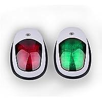TiooDre Navegaciã³n en Barco de Navegaciã³n luz 12V de la Lã¡Mpara LED Rojo y Verde luz Marina para Luces de Navegaciã³n del Arco del Acero Inoxidable Barco Yate