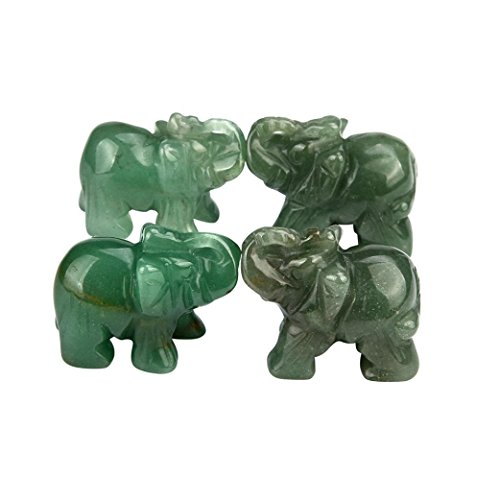 hunpta 1handgeschnitzt Elefant Jade Edelstein Ornament Craft Briefbeschwerer - Carving Stein Maschine