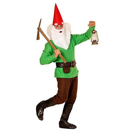 Imagen de widmann 01351–adultos disfraz enano, chaqueta, pantalones, cinturón con funda, zapatos überzieher, sombrero con orejas, cejas, verde alternativa
