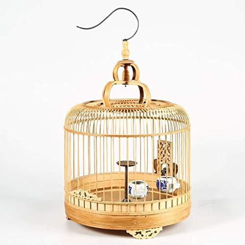 XWYGW Haustierbett Außenzuchtkäfig Upgraded Bambus Vogelträger Fliegen Cage, Klassische Indoor-Vogelkäfig Papageienkäfig, Geeignet for Parrot/Vogel -