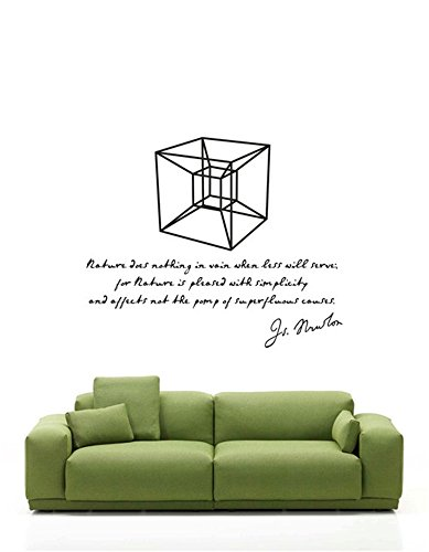 wandaufkleber 3d schlafzimmer Wall Art Decor Decoration Science Art Isaac Newton And Hypercube For Lab Classroom School University -