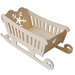 Cesta trineo madera de Kit montaje de encaje
