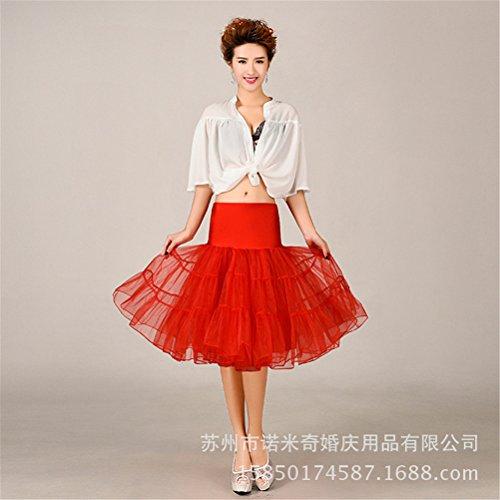 Womens Retro mariage Petticoat Reifrock Unterrock Rockabilly Dress Puff Jupe 1#
