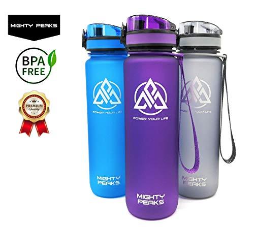 Sport-Trinkflasche 1l-iter Auslaufsicher BPA frei 1000ml 1l Plastik-flaschen Outdoor Fahrrad Camping Pilates Yoga Zumba Wasserflasche 1l-iter Glas-Trinkflasche 1l-iter 1 l Glas-Karaffe Glas-Flasche -