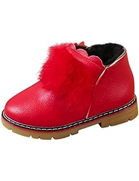 TPulling Mode Junge Und Mädchen Martin Stiefel Herbst Und Winter Kinder Drucken Weichen Ende Schuhe Warme Stiefel...