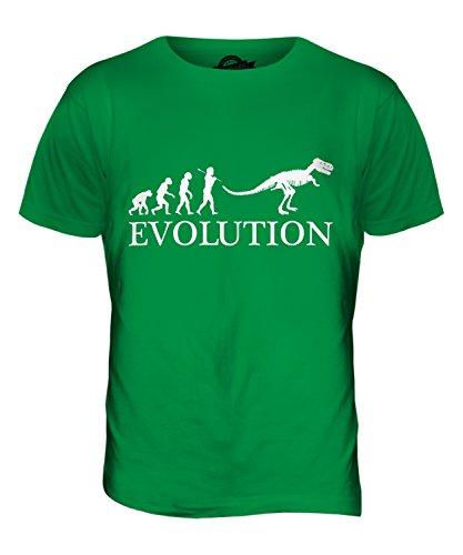 CandyMix Tyrannosaurus Rex T-Rex Evolution Des Menschen Herren T Shirt Grün