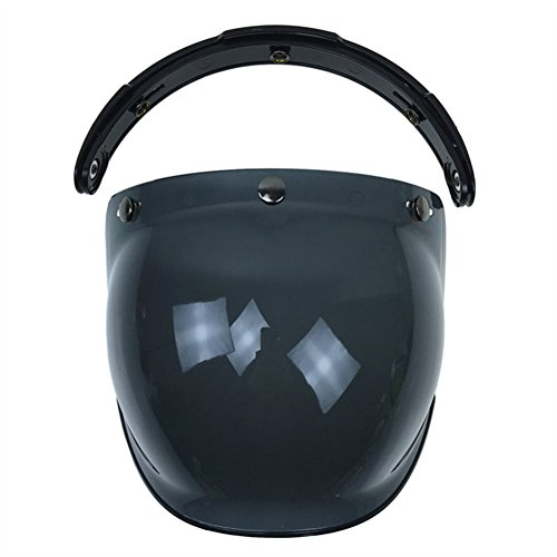 YHLVE 1Motorrad Helm Objektiv-Flip Helm Bubble Shield Sun Maske, Dunkelbraun, 22cm*20cm*12cm