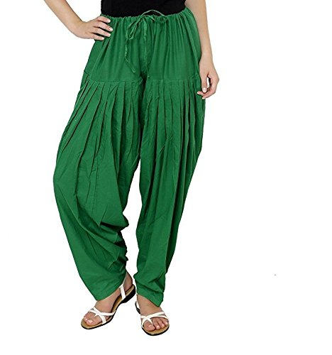 kalpit creations Women\'s Cotton Traditional Patiala Salwar 100% Cotton Free Size[available in many colours] (green)
