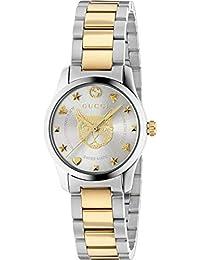 ad564ce3a5f Reloj Gucci de Mujer G-Timeless 27 mm de Acero Inoxidable de Oro felino  YA126596