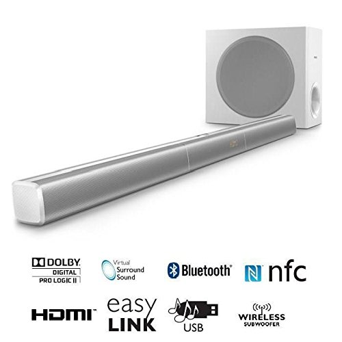 Philips htl3160s/123.1Barra de sonido con subwoofer inalámbrico (HDMI ARC, Bluetooth/NFC)
