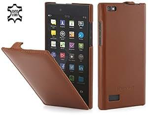 StilGut UltraSlim, housse en cuir pour BlackBerry Leap, en cognac