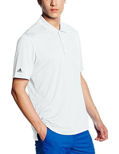 adidas Herren Poloshirt Performance Kurzärmliges Polo Hemd, White, XL - Adidas Golf-zubehör