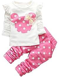 mioim pcs ropa conjuntos tops camiseta manga larga lunares para bebs infantil nias camiseta de