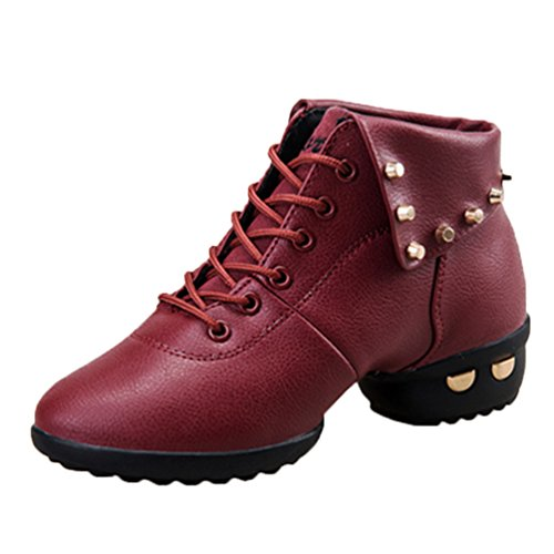 YouPue Frauen Winter Modernen Jazz Hip-Hop-Tanzschuhe Trainer Niet Sneakers Outdoor Schuhe Solide Farbe