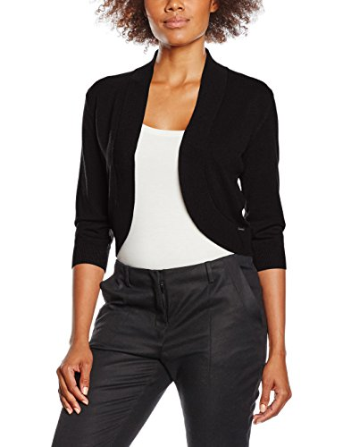 More & More Damen Bolero Strickjacke, Carolin, Schwarz (Black 0790), 44