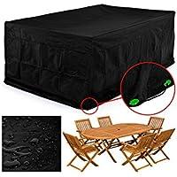 FEMOR Cubierta Impermeable para Muebles Fundas Protectora para Muebles Sillas Sofás Mesas Cubierta de Exterior Color Negro(250x 200x 80cm)