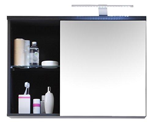 #BEGA 54-864-C0 Badezimmer-Spiegelschrank, circa 69 x 58 x 25 cm, grau#