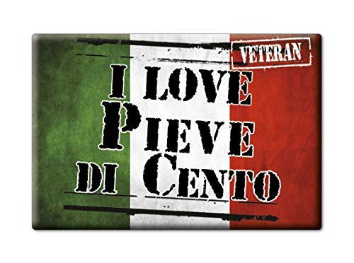 Enjoymagnets Pieve DI Cento Souvenir Emilia Romagna (BO) KÜHLSCHRANK Magnet ICH Liebe Gift (VAR. Veteran)