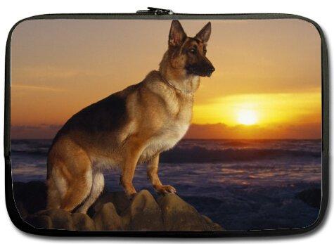 Preisvergleich Produktbild Schönes Design süsse Haustier Deutscher Schäferhund Bilder MacBook, MacBook Air 33cm Laptop Sleeve/Laptop Tasche/Laptop Cover/Laptop Sleeve MacBook Air Fall Taschen (Zwei Seiten)