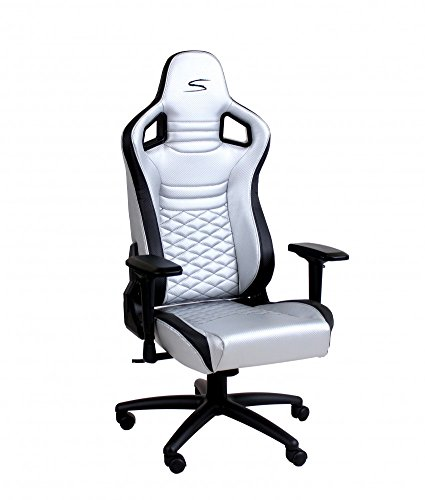 SPEEDMASTER ® Chair Silber - Carbonfaser Optik - Gaming Stuhl - Office - Bürostuhl