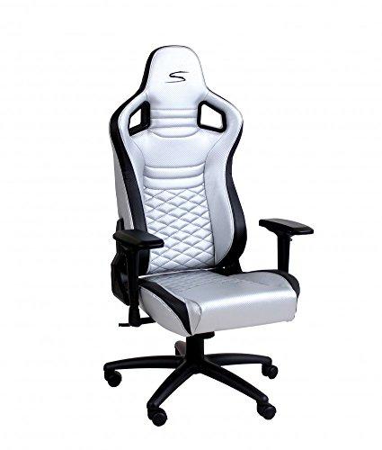 SPEEDMASTER ® Chair Silber - Carbonfaser Optik - Gaming Stuhl - Office - Bürostuhl