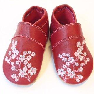 Preisvergleich Produktbild Anna & Paul Krabbelschuhe KIRSCHBLÜTE erdbeer - mit Ledersohle, Größe:S (18/19)
