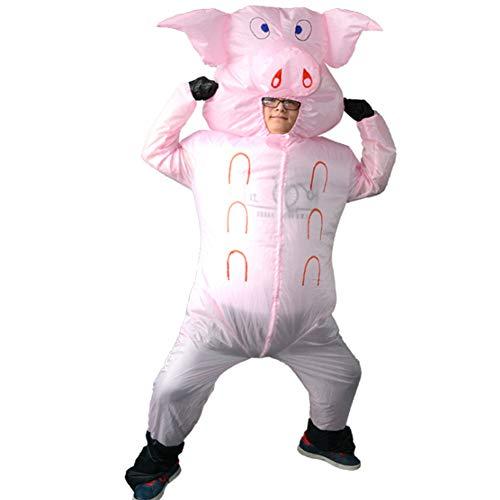 S+S Aufblasbare Schweinkörperklage-kleiderrolle Der Kleidungsrosa Aufblasbare, Die Gehende Leistungsstützen Der Lustigen Thema-Partei Für Erwachsene Kleidung Spielt