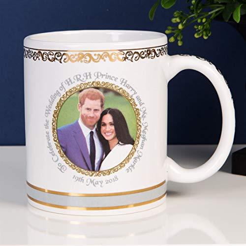 Widdop Royal Heritage s.k.h Harry und Megan Markle Hochzeit GEDENKMÜNZE Royal Hochzeit New Steingut Becher in Geschenkbox