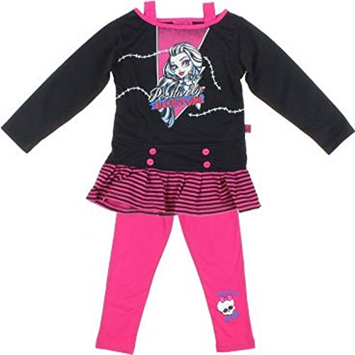 Monster High Set Seatshirt + Leggins (104, Schwarz-Rot)