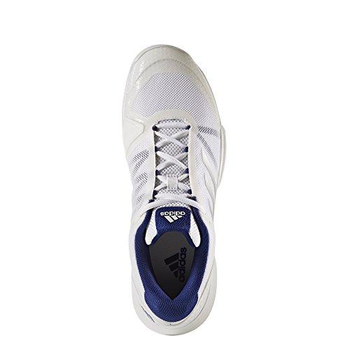 adidas Barricade Club Cpt, Scarpe da Tennis Uomo Bianco (Footwear White/silver Metallic/mystery Ink)